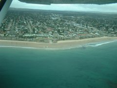 Adelaide metro shoreline from the air