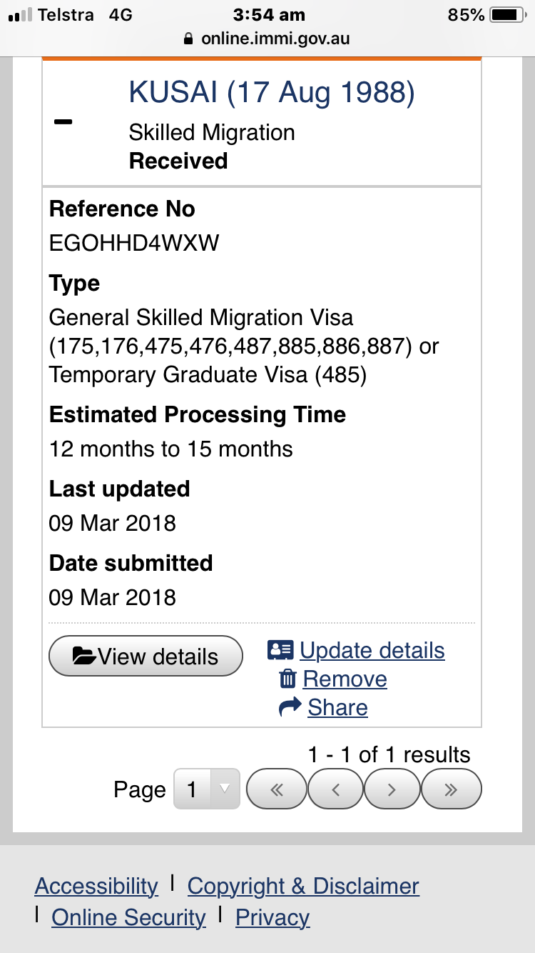 887 Visa - What's the update? - Page 1069 - Visa's and