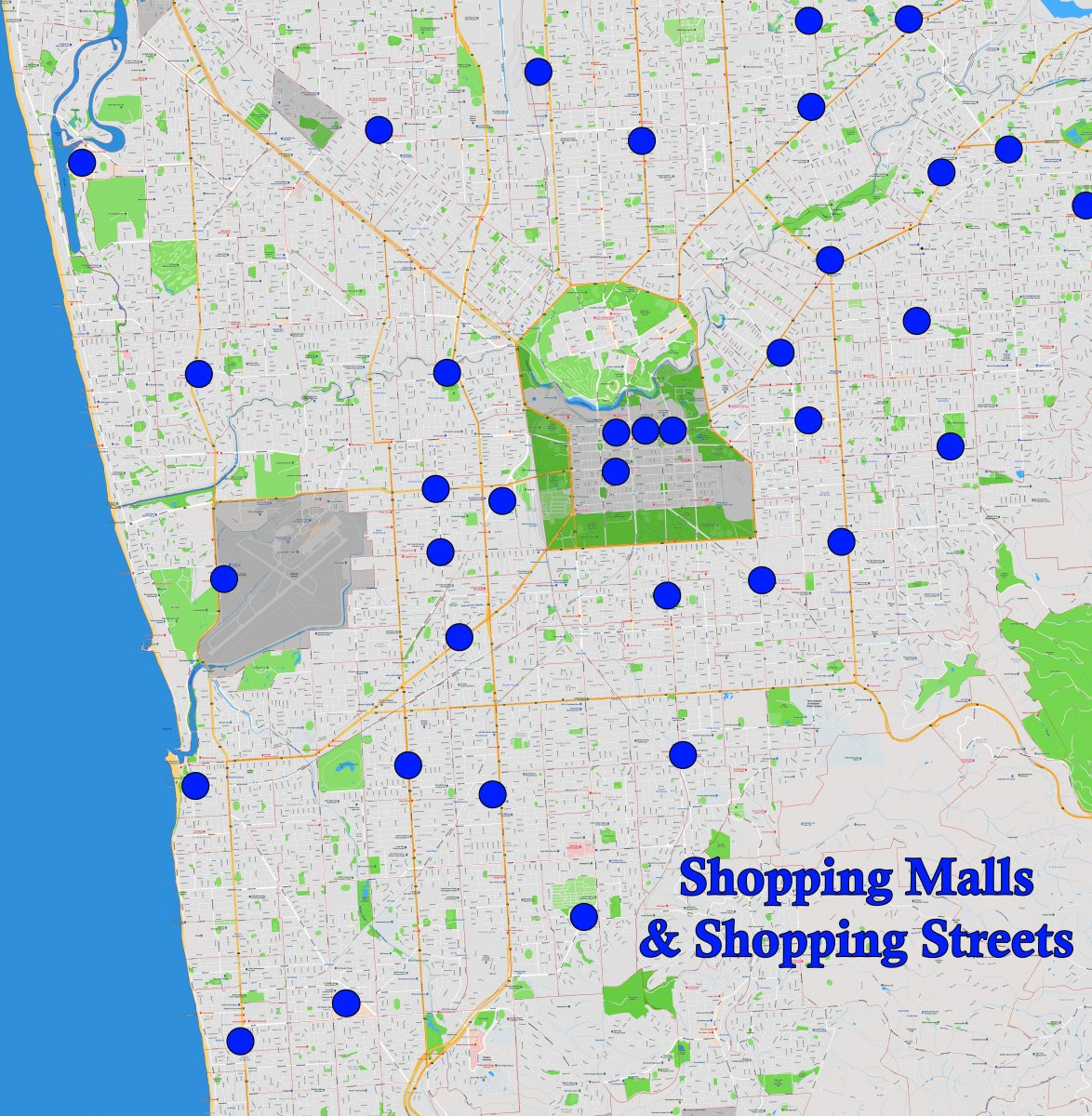 Adelaide Suburb Map - Malls & Shopping Streets - April 2019 Smaller.jpg